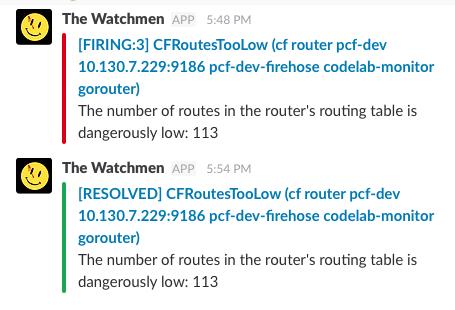 Alertmanager screenshot
